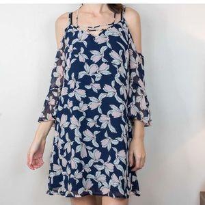 Olivia Gray Priya Printed Cold Shoulder Dress